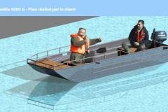 Barco pesca de alumínio (144)