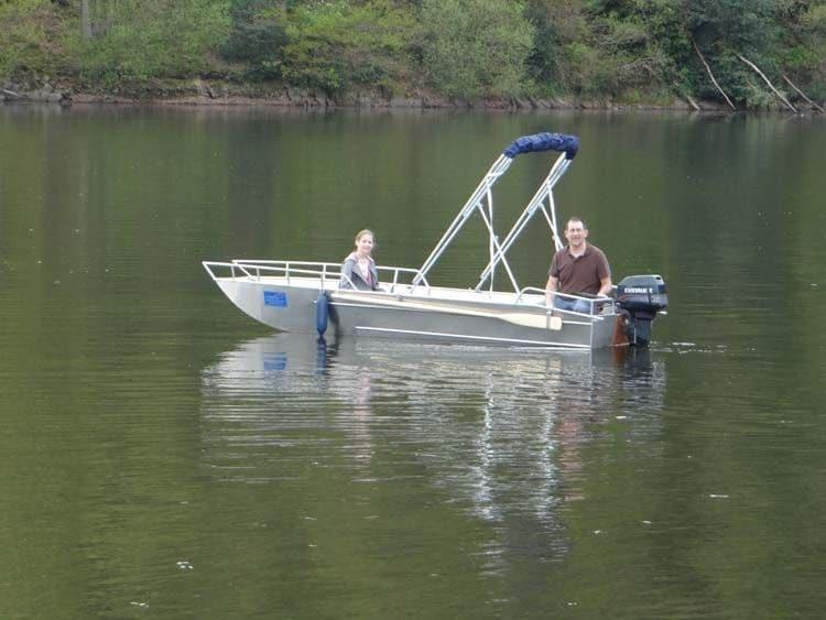 Barco de pesca de alumínio (4)