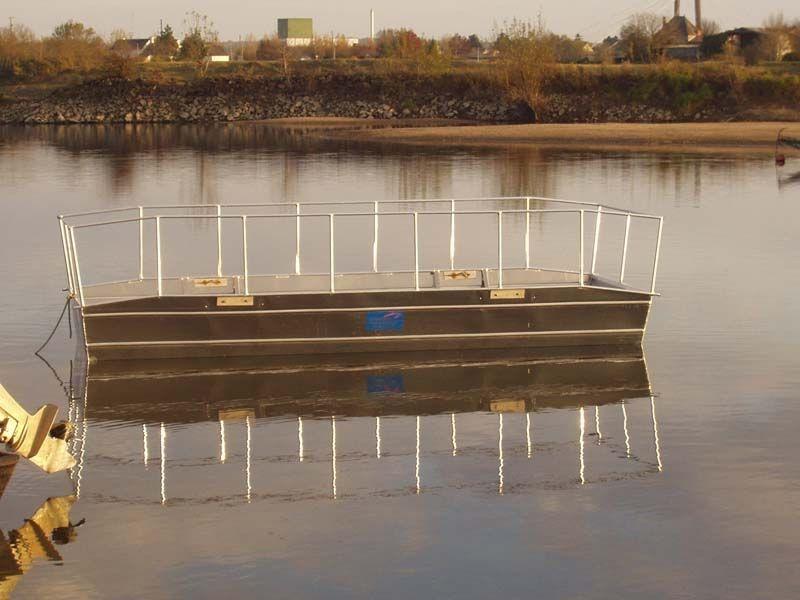 Barco de pesca em alumínio único (10)