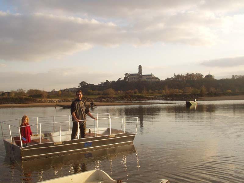 Barco de pesca em alumínio único (27)