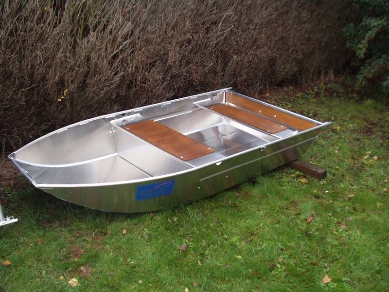 Barco de pesca em alumínio único (28)