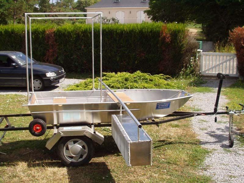 Barco de pesca em alumínio único (4)
