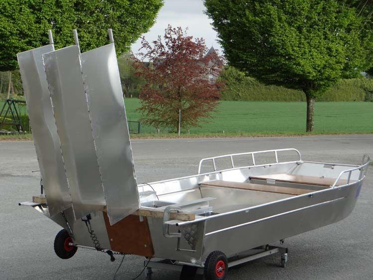 Barco de pesca em alumínio único (42)