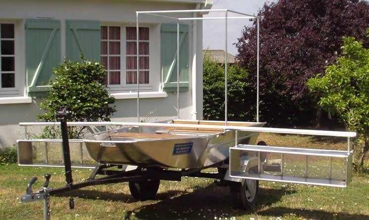 Barco de pesca em alumínio único (7)