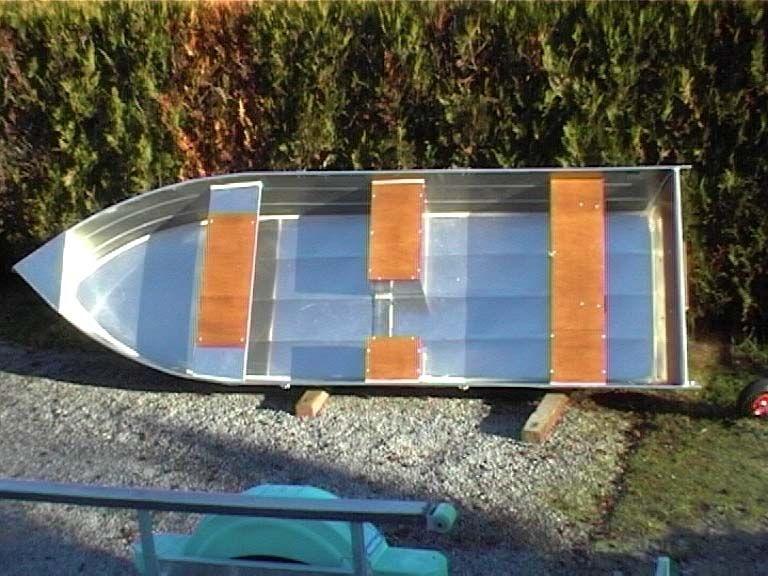 Barco de pesca em alumínio único (8)