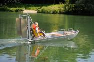Barco de pesca em alumínio leve