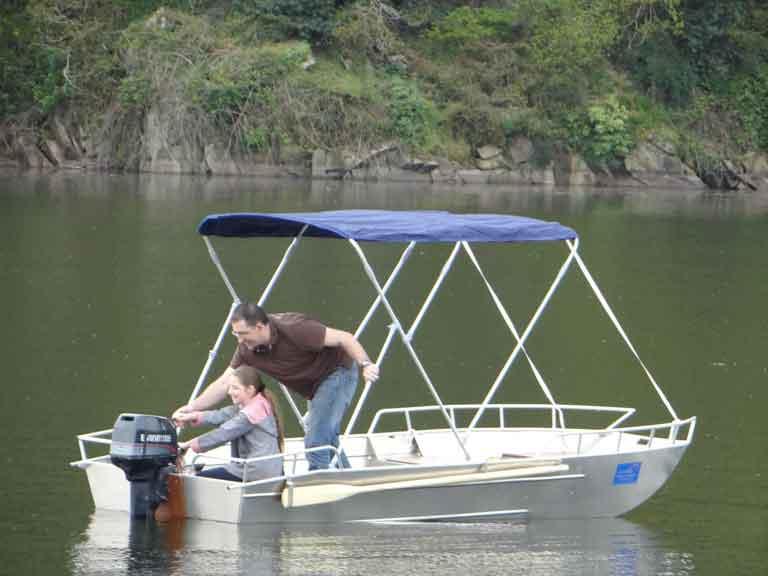 Barco de pesca leve de alumínio soldado